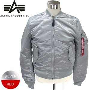 ALPHA INDUSTRIES アルファ インダストリーズ MA-1 フライトジャケット スリムフィット  MJM44530C1 NEW SILVER リバーシブル 決算SSP|pre-ma