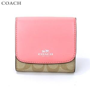 【アウトレット訳あり】コーチ COACH  財布 二つ折り F53837 SIGB5  ライトピンク/ライトカーキ|pre-ma