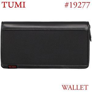TUMI トゥミ 長財布 ジップ・アラウンド・トラベル・ウォレット ALPHA 19277 D  ブラック|pre-ma