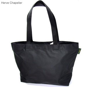 【新品アウトレット】エルベシャプリエ トートバッグ スクエアショルダーL Herve Chapelier 904N  NOIR/NOIR ブラック|pre-ma