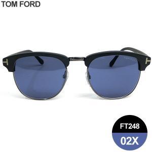 TOM FORD トムフォード サングラス HENRY ウェリントン TF0248 02X マットブラック/ブルー 51-21-145|pre-ma