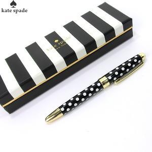 【アウトレット・在庫処分】ケイトスペード ボールペン 133745 ブラック&ホワイトドット  KATE SPADE|pre-ma