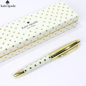 【アウトレット・在庫処分】ケイトスペード ボールペン 165550 クリーム&ゴールドドット  KATE SPADE|pre-ma