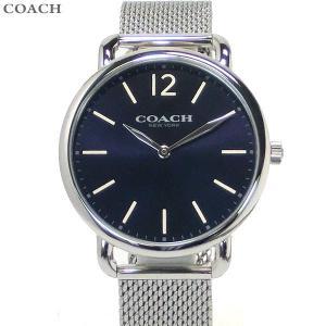 コーチ COACH  メンズ 腕時計 デランシー 14602349 ダークネイビー シルバー 40mm|pre-ma