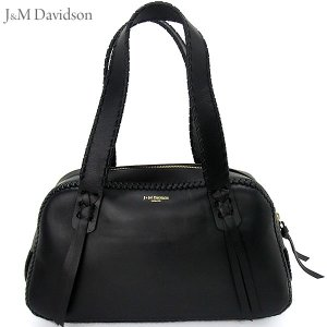 J&M デヴィッドソン トートバッグ Gilda 1528 7314 999 ブラック J&M DAVIDSON|pre-ma