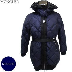 モンクレール MOUCHE ダウンコート レディース 740/ネイビー ベルト付 MONCLER【アウトレット-n30】|pre-ma