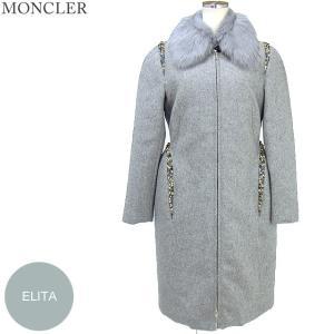 モンクレール  ELITA ロングコート  レディース ウール リアルファー 903 サイズ(1)限定 MONCLER【アウトレット-n15】|pre-ma