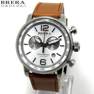 ブレラ オロロジ BRERA OROLOGI メンズ 腕時計 クロノグラフ DINAMICO BRDIC4402 ブラウン【アウトレット展示品】|pre-ma