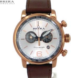 ブレラ オロロジ BRERA OROLOGI メンズ 腕時計 クロノグラフ DINAMICO BRDIC4406 RG/ブラウン【アウトレット展示品】|pre-ma