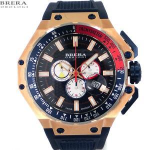ブレラ オロロジ BRERA OROLOGI メンズ 腕時計 クロノグラフ BRGTC5405 GRAN TURISMO RG/ネイビー【アウトレット展示品】|pre-ma