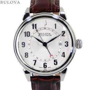 ブローバ BULOVA メンズ腕時計 63B153 自動巻 Accutron Gemini  レザー SWISS MADE  GMT 新品アウトレット|pre-ma