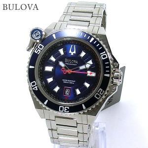 ブローバ BULOVA メンズ 腕時計 98B168 ACCUTRON 300m防水 ネイビー ステンレス 【アウトレット展示用】|pre-ma
