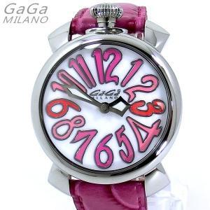 ガガミラノ GaGa MILANO 腕時計 5020.6 MANUALE 40MM ピンクレザー レディース 限定1点 新品 特価セール|pre-ma