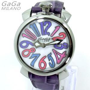 ガガミラノ GaGa MILANO 腕時計 5020.7 MANUALE 40MM パープルレザー レディース 限定1点 新品 特価セール|pre-ma