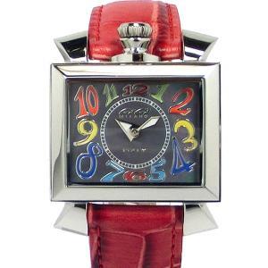 ガガミラノ GaGa MILANO レディース 腕時計 ナポレオーネ 6030.2 レッドレザー 【新品アウトレット】|pre-ma