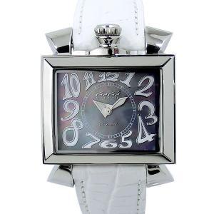 【アウトレット訳あり-B4】ガガミラノ GaGa MILANO レディース 腕時計 ナポレオーネ 6030.4 ブラックシェル/ホワイトレザー|pre-ma