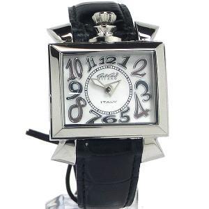 【アウトレット訳あり-B3】ガガミラノ GaGa MILANO レディース 腕時計 ナポレオーネ 6030.5 ブラックレザー|pre-ma
