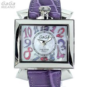 ガガミラノ GaGa MILANO 腕時計 ナポレオーネ 6030.7 パープルレザー レディース|pre-ma