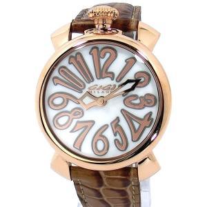 ガガミラノ GaGa MILANO レディース 腕時計 5021.2 MANUALE 40mm PG/ブラウン レザー 新品 決算SSP|pre-ma