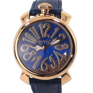 ガガミラノ GaGa MILANO レディース 腕時計 5021.FL.01 FLOATING 40mm PG/ネイビー レザー 【アウトレット展示用】|pre-ma