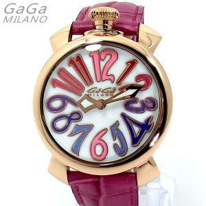 ガガミラノ GaGa MILANO 腕時計 5021.1 MANUALE 40mm 18Kピンクゴールド ピンクレザー レディース【アウトレット展示用】|pre-ma