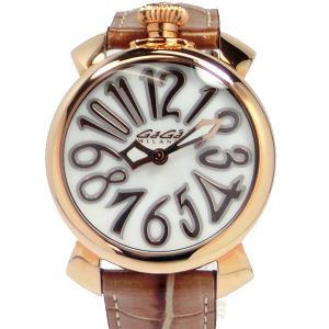 ガガミラノ GaGa MILANO 腕時計 5021.2 MANUALE 40mm 18Kピンクゴールド ブラウンレザー レディース【アウトレット展示用】|pre-ma