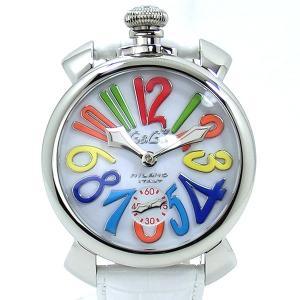 ガガミラノ GaGa MILANO メンズ 腕時計 5010.01S MANUALE 48MM 手巻き式 SWISS MADE ホワイトレザー【アウトレット展示用】|pre-ma