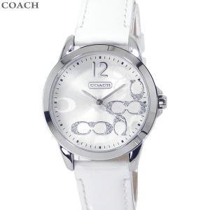 コーチ COACH  レディース 腕時計 クラシック シグネチャー 14501616 32mm ホワイトエナメル レザー 新品|pre-ma
