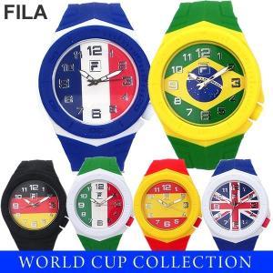 FILA フィラ ウォッチ 44mm 腕時計 国旗 デザイン ラバーベルト 100m防水 新品 電池交換済|pre-ma