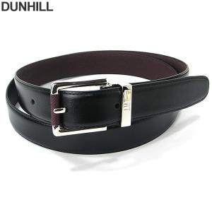 ダンヒル 紳士用 リバーシブル ベルト ブラック/ブラウン HPV222A42 dunhill  Belt Bourdon Insert  長さ調節OK|pre-ma