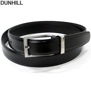 ダンヒル 紳士用 リバーシブル ベルト ブラック/ブラック HPV229A42 dunhill  Belt Windsor 長さ調節OK pre-ma