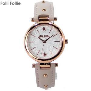 フォリフォリ Folli Follie 腕時計 WF18R001SPS-PI ベージュピンク レザー CYCLOS ROCKS レディース|pre-ma