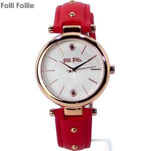 フォリフォリ Folli Follie 腕時計 WF18R001SPS-RE レッド レザー CYCLOS ROCKS レディース|pre-ma