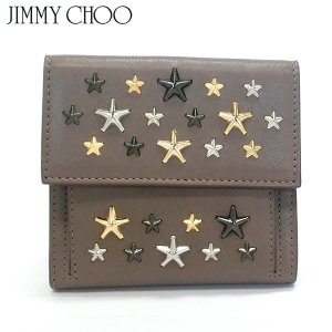 JIMMY CHOO ジミーチュウ 二つ折り財布 短財布 FRIDA LTR MUSK/METALLIC MIX レディース 148546 新品アウトレット|pre-ma