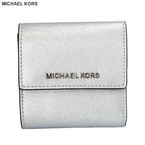 マイケルコース MICHAEL KORS 二つ折り 財布 ショート 35F8STVD1M シルバー  レディース 決算SSP|pre-ma