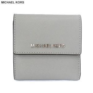 マイケルコース MICHAEL KORS 二つ折り 財布 ショート 35F8STVD1L Ash Grey グレイッシュ  レディース 新品 pre-ma