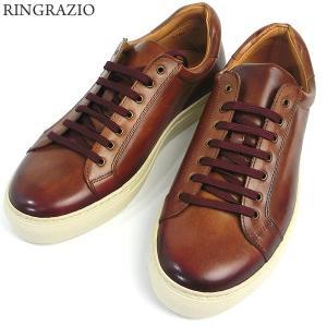 RINGRAZIO リングラツィオ メンズ レザーシューズ 5194 ブラウン サイズ40(25-25.5cm) スペイン製 新品アウトレット|pre-ma