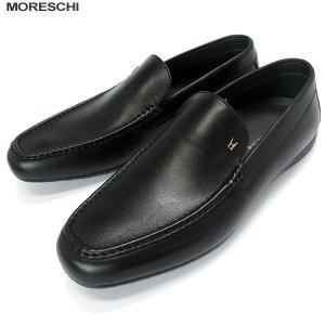 MORESCHI モレスキー 紳士靴 ローファー 42821 ブラック サイズ 7.5(26cm)  イタリア製 新品アウトレット|pre-ma