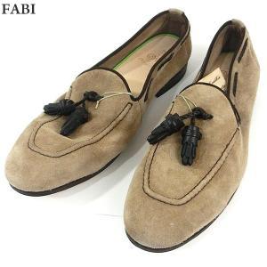 FABI ファビ 紳士靴 モカシン スエード 8551 SABBIA ベージュ系 サイズ UK8(26.5cm) メンズ イタリア製 新品アウトレット-24|pre-ma