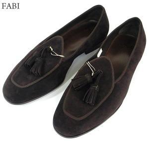 FABI ファビ 紳士靴 タッセル スエード スリッポン 8811 ブラウン サイズ 42(26.5cm) メンズ イタリア製 新品アウトレット-26|pre-ma