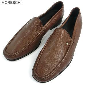 MORESCHI モレスキー 紳士靴 ローファー 39994 ブラウン イタリア製 新品アウトレット|pre-ma