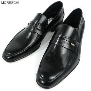 MORESCHI モレスキー 紳士靴 ローファー シューズ 37294 ブラック サイズ 6(24.5cm) メンズ イタリア製 新品アウトレット-53|pre-ma