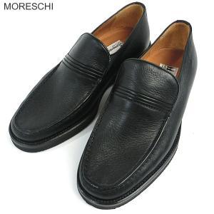 MORESCHI モレスキー 紳士靴 ローファー 22155 ブラック サイズ4-4.5 イタリア製 新品アウトレット|pre-ma