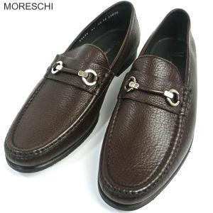 MORESCHI モレスキー  紳士靴 ローファー 41435 ダークブラウン サイズ 7.5(26cm)  イタリア製 新品アウトレット-43|pre-ma