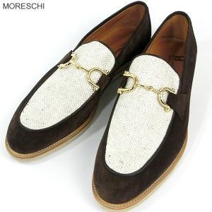 MORESCHI モレスキー 紳士靴 ローファー  42649 ブラウン サイズ 7.5 (26cm)  イタリア製 新品アウトレット-48|pre-ma