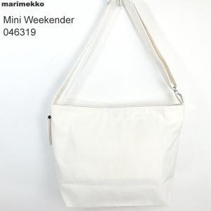マリメッコ marimekko ショルダーバッグ 046319 011/ホワイト Mini Weekender Solid|pre-ma