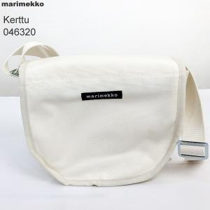 マリメッコ marimekko Kerttu ショルダーバッグ/クロスボディ 046320 011/ホワイト|pre-ma