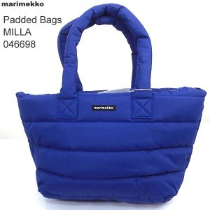 マリメッコ marimekko トートバッグ Padded Bags Milla  キルティング 046698 500/ブルー|pre-ma