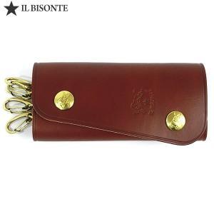 イルビゾンテ IL BISONTE キーケース 4連 C0799 P 214 ブラウン 【新品アウトレット】1点限り|pre-ma