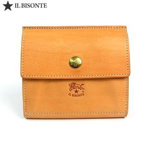 イルビゾンテ 財布 IL BISONTE Wホック 二つ折り財布 C0910 P 120 ナチュラル 新品アウトレット-B1|pre-ma
